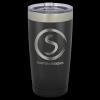 Vacuum Insulated Black Powder Coated Stainless Steel Mug with Clear Lid Misc. Gift Awards