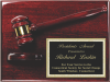 Deluxe Gavel Plaque Wall Plaque Awards