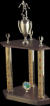 3 Column Wood base trophy 2 & 3 Column Trophies
