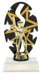 Baseball Male Backdrop Trophy Baseball & Softball Trophies