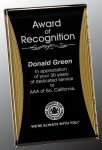 Black/Gold Standing Reflection Acrylic Award Recognition Plaque Colored Acrylic Awards