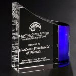 Faceted Wave Corporate Crystal & Glass Awards