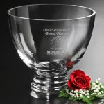 Clear Pedestal Bowl Corporate Crystal & Glass Awards