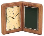 American Walnut Album Clock Desk Clocks
