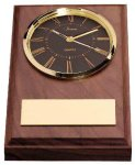 American Walnut Wedge Clock Desk Clocks