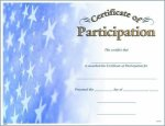 Photo Certificate of Participation Fill in the Blank Certificates