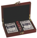 Rosewood Finish Card and Dice Set Game Gifts