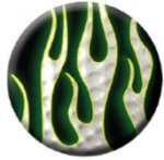 Ball Marker Black/White Flames Golf Ball Markers