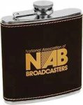 Black Leatherette Flask Misc. Gift Awards