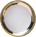 Silver Plated Tray with Gold Border New Products