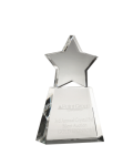 Clear Star on Clear Base Optical Crystal Awards