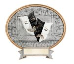 Legend Drama Mask Oval Award Oval Resin Trophy Awards
