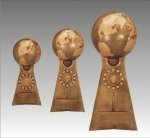 Ball Pedestal Victory Globe Pedestal Resin Trophy Awards