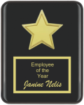 The Recognition Star Plaque Piano Finish Plaques