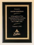 Black Piano Finish Plaque with Brass Plate Piano Finish Plaques