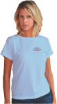 Short Sleeved Female Classic T-shirt with Left Chest Custom Imprinted Graph Short Sleeve T-Shirts