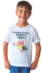 Juvenile T-shirt with Custom Subligraphic Design Short Sleeve T-Shirts