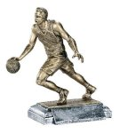 Sports Action Basketball Male Sports Action Resin Trophy Awards