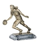 Sports Action Basketball Female Sports Action Resin Trophy Awards