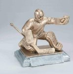 Sports Action Hockey Goalie Male Sports Action Resin Trophy Awards