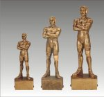 Sports Champion Wrestling Male Sports Champion Resin Trophy Awards