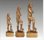 Sports Champion Soccer Female Sports Champion Resin Trophy Awards