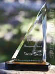 Spectacular Slant Color Accented Acrylic Award Traditional Acrylic Awards