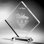 Clear Diamond Acrylic Award Traditional Acrylic Awards