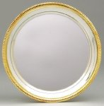 Silver Plated Tray with Gold Border Trays
