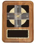 American Walnut Wall Clock with Black & Gold Crackle Face Wall Clocks