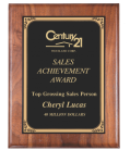 Rounded Edge Solid Walnut Plaque Wall Plaque Awards