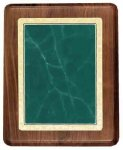 Walnut Plaque with Green Marble Plate Walnut Plaques