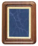Walnut Plaque with Blue Marble Plate Walnut Plaques