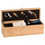 Single Wine Box With Tools -Bamboo Wine Gifts