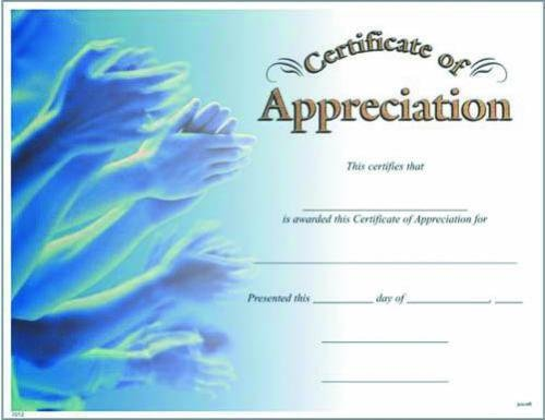 Photo Certificate of Appreciation Fill in the Blank ...