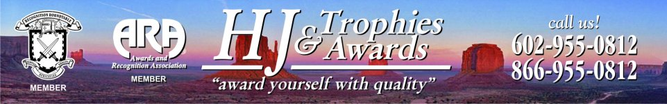 HJ Trophies & Awards - acrylic awards thomas road phoenix, crystal awards phoenix, cup trophies near Scottsdale road, perpetual plaques phoenix, corporate awards, phoenix, trophies south phoenix,  baseball trophies, football trophies, soccer trophies, corporate plaques, recognition plaques, glass awards, gifts, clocks, corporate recognition, promotional products phoenix, years of service awards arizona, name badges, arizona, phoenix, ppe products, safety shields